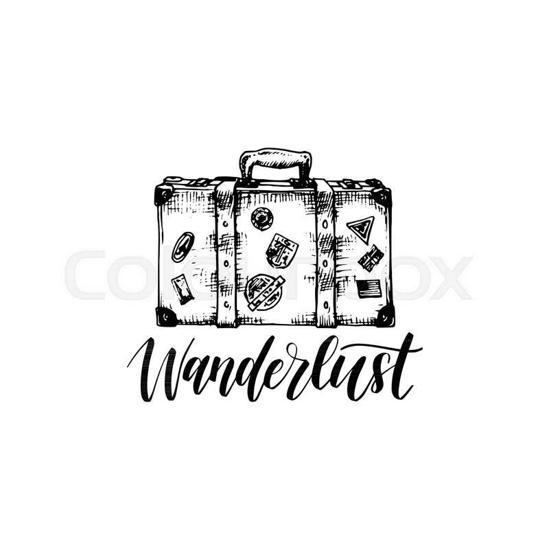 a383a6f1f6aa6 Wanderlust poster with hand lettering. ...