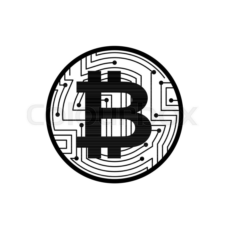 Bitcoin Coin Isolated Crypto Currency Symbol Virtual Money Sign
