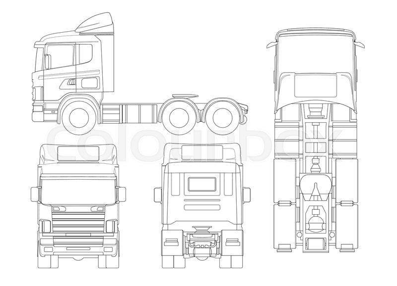 truck tractor or semi