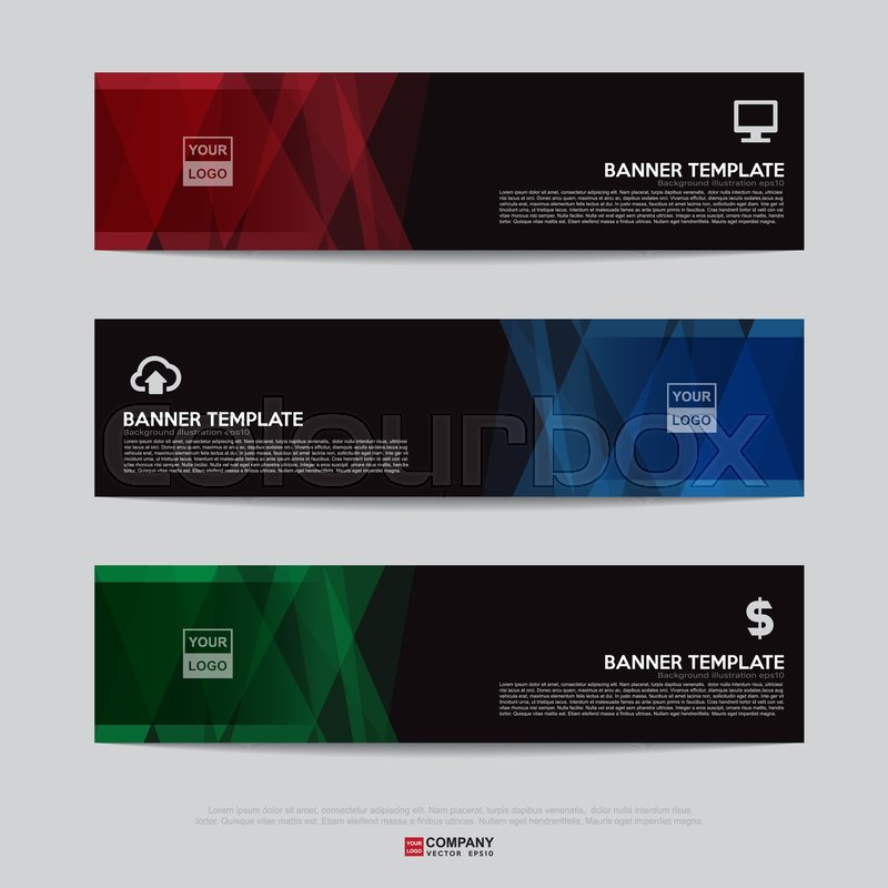 Design Of Flyers Banners Brochures And Cards Template Banner