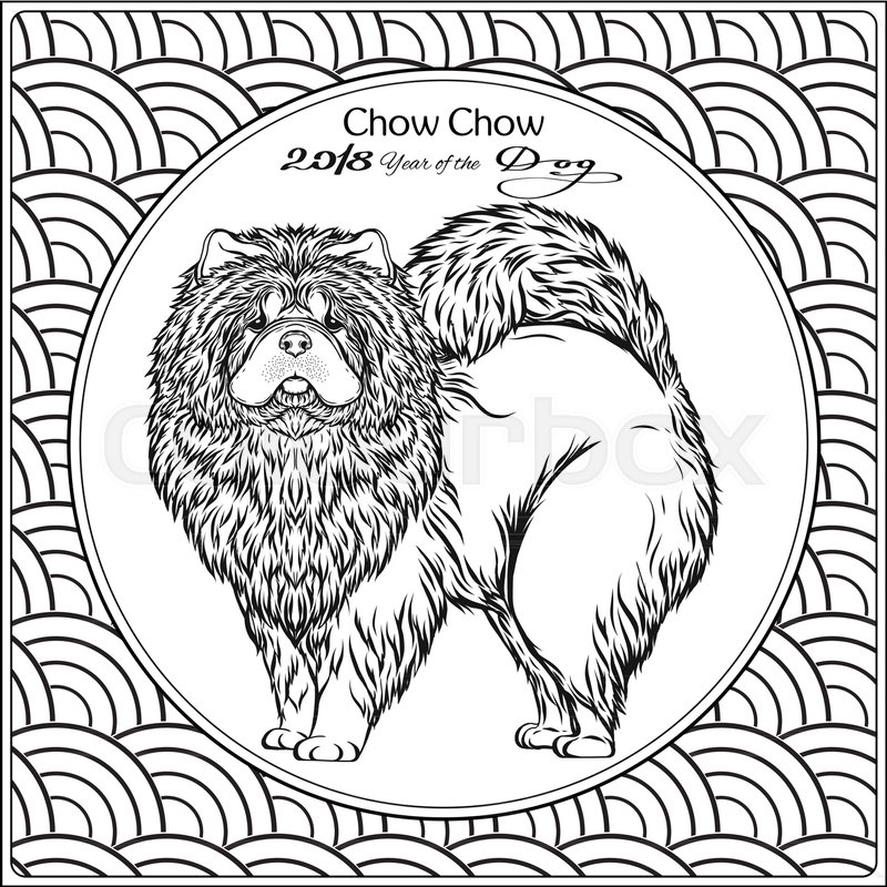 Coloring page with dog on background