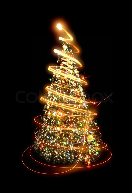 xmas tree lights on the black background stock photo colourbox. Black Bedroom Furniture Sets. Home Design Ideas