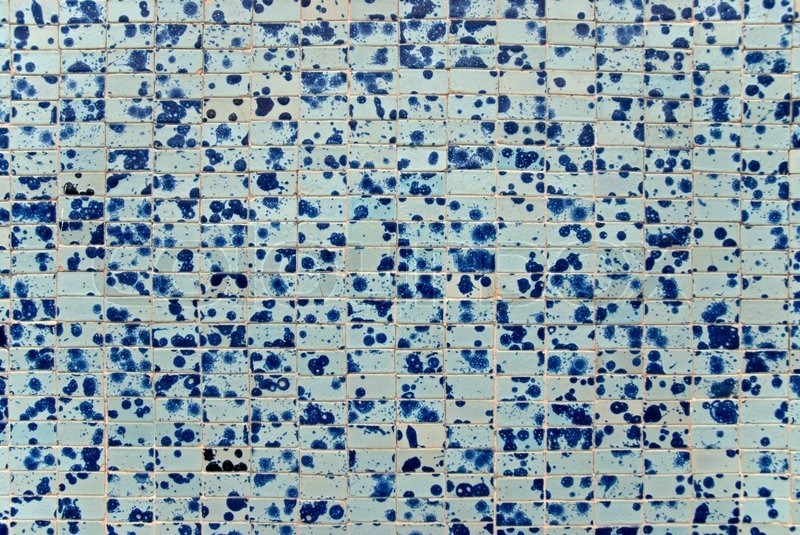 Tile texture background of bathroom or swimming pool tiles on wall ...