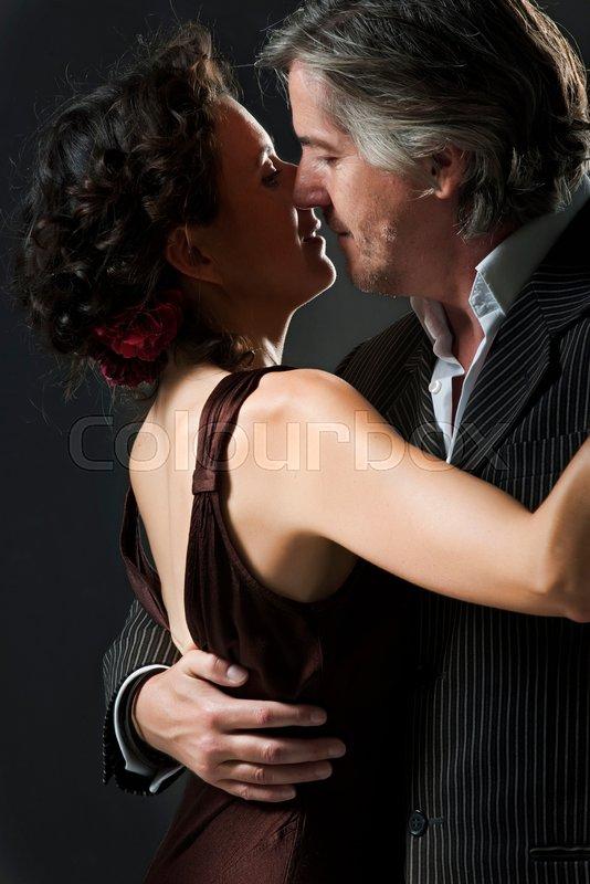 Man & woman dancing tango, stock photo