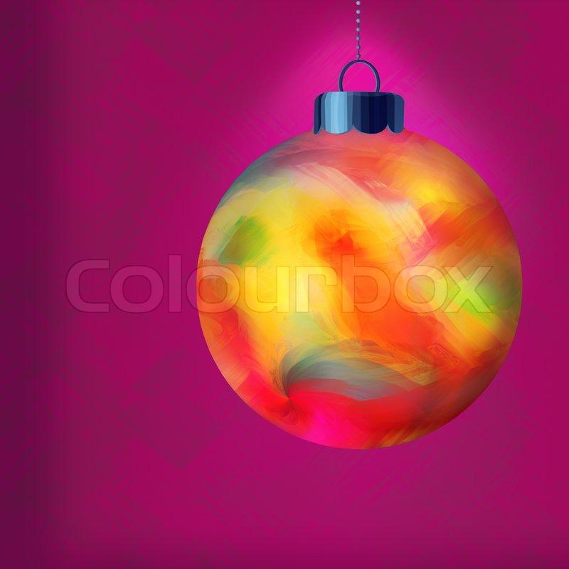 Hinflug Multi Colored Christmas Ornament Stock Bild
