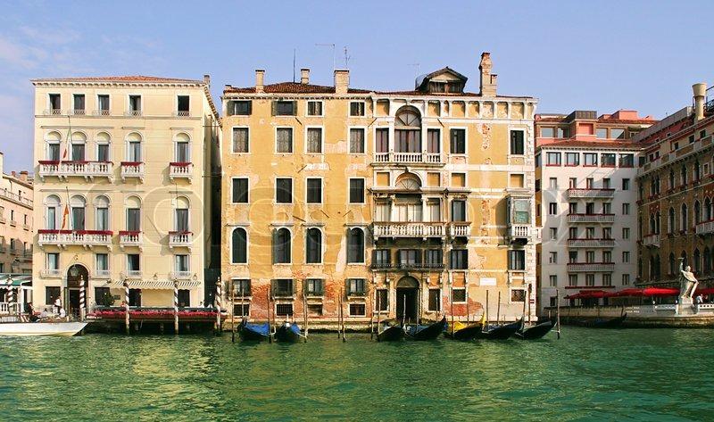 Häuser Italien alte historische häuser am canal grande in venedig italien