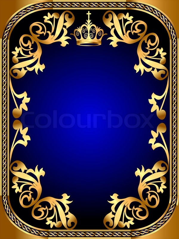 illustration background frame with gold pattern and crown birthday clip art borders free images birthday clip art borders free images