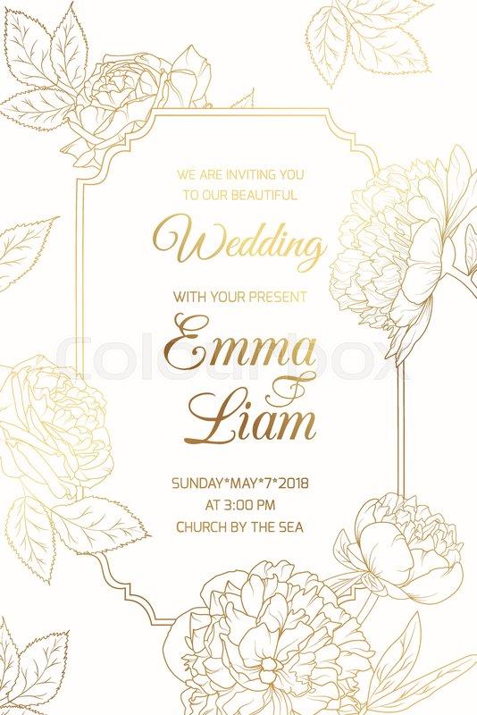 Wedding Event Invitation Vintage Card Template Border