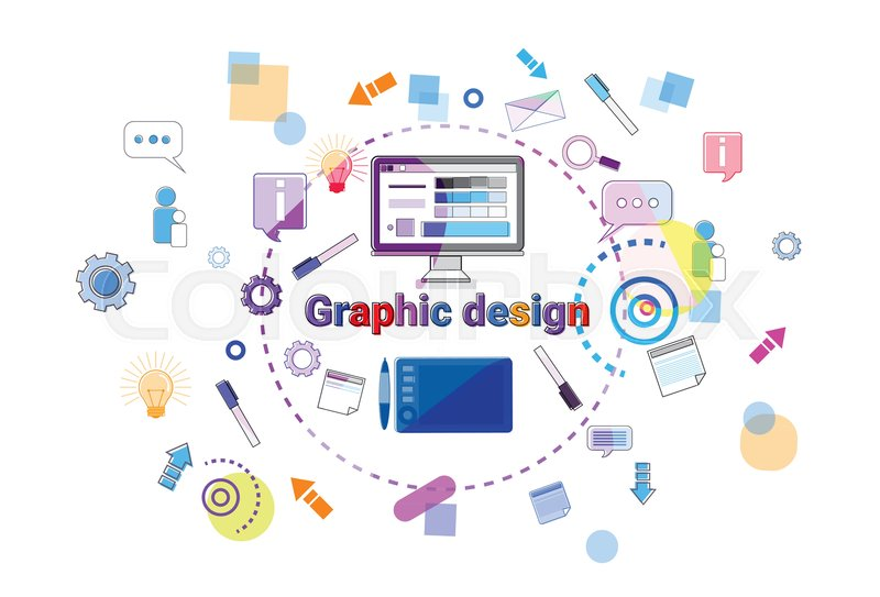 Web Design Idea Concept Creative Stock Vector Colourbox