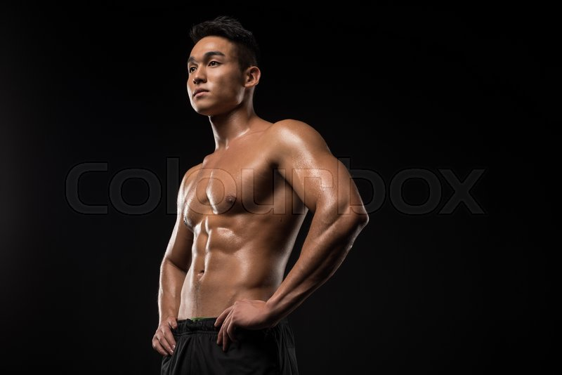 asian man muscular picture