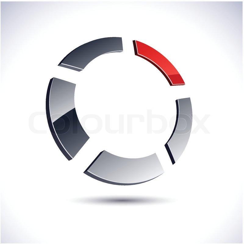 abstract modern 3d ring logo vector stock vector colourbox abstract modern 3d ring logo vector