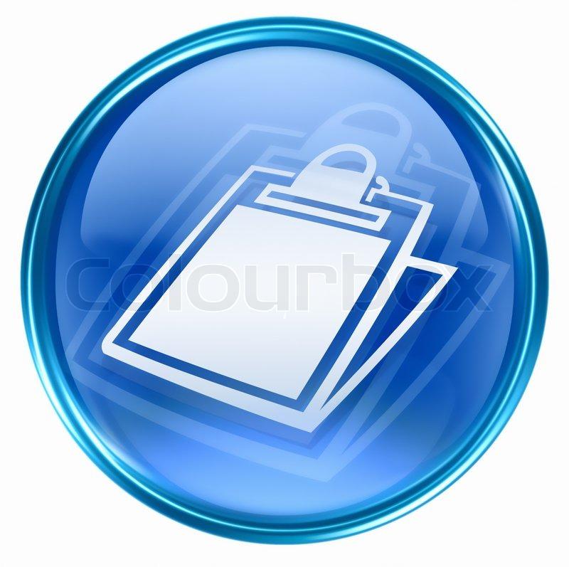 Tabelle -Symbol Blau, Isoliert Auf Weißem Hintergrund