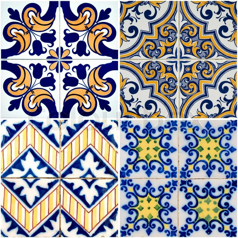tile effect wallpaper border