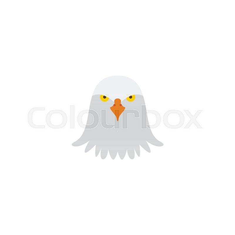 Flat Icon Eagle Head Element Vector Illustration Of Flat Icon Bird