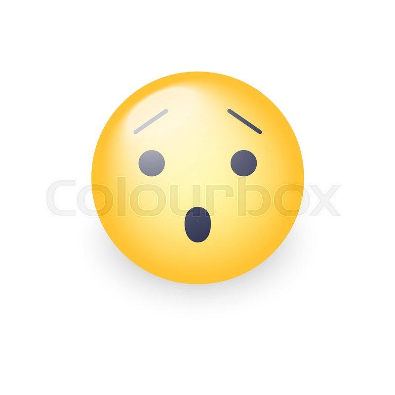 Scared emoticon