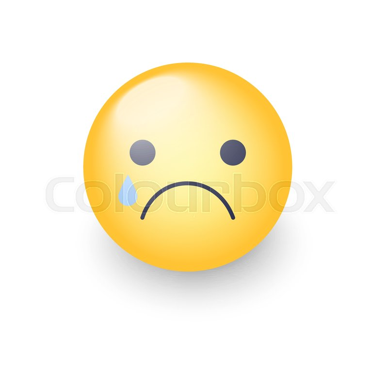 disappointed emoji face crying vector cartoon smiley sad