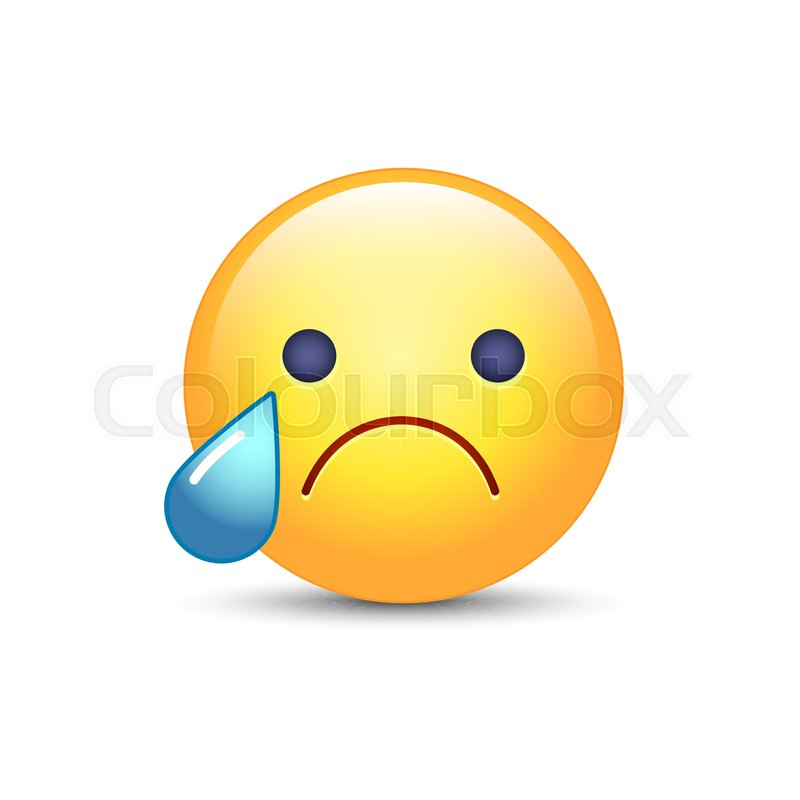 disappointed emoji face crying vector cartoon smiley sad emoticon