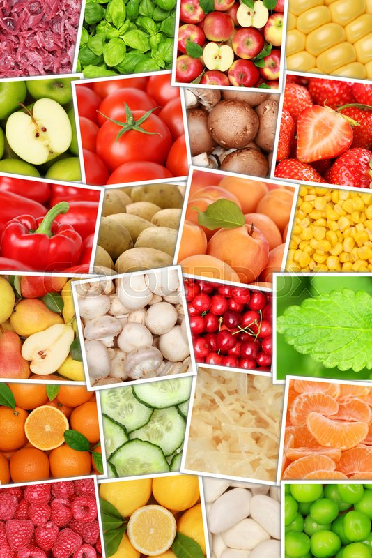Fruits and vegetables background top view collection portrait format apples oranges lemons tomatoes fruit from above, stock photo