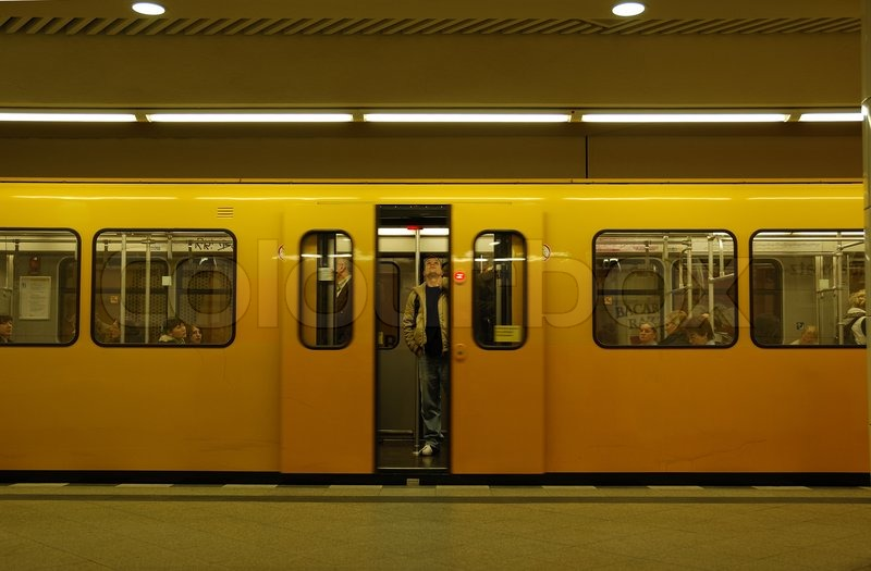 Stock Bild von 'Metro -Station in Berlin'