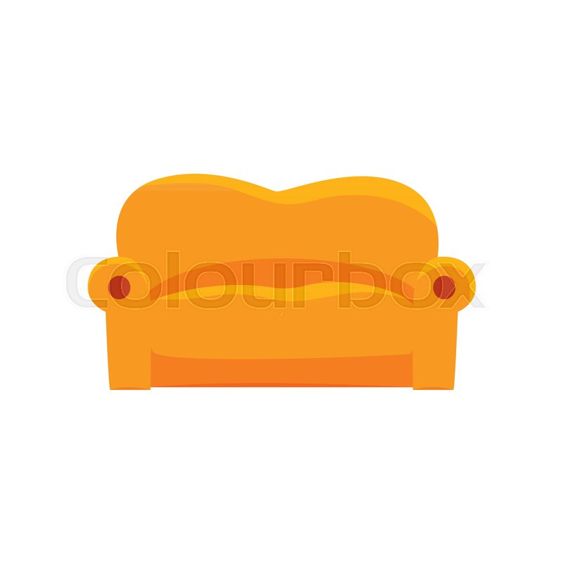 cartoon sofa chair. Sofa Furniture For Relaxation Cartoon Vector Illustration Isolated On A White Background | Stock Colourbox Chair V