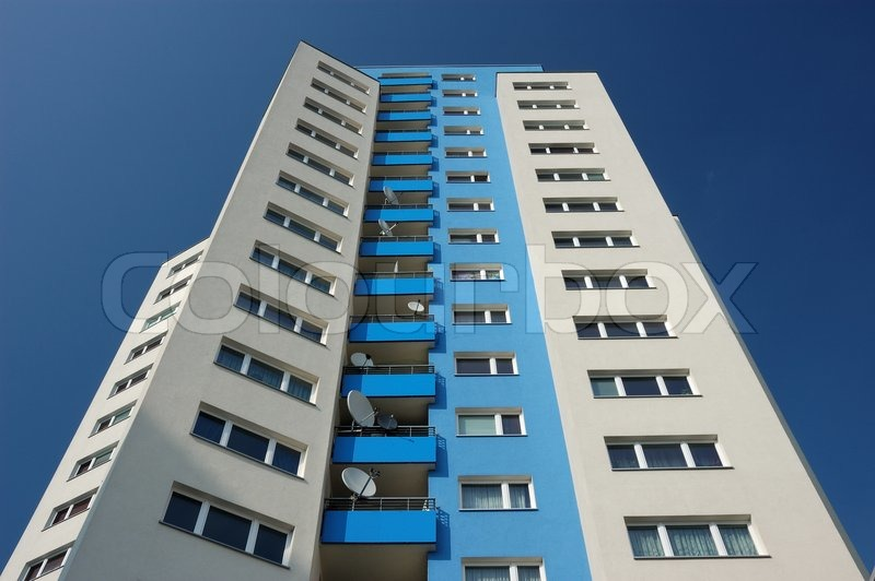 Modern Apartment Buildings In The City Stock Photo Colourbox