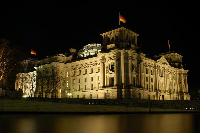 Image result for Germany parliament pic at night