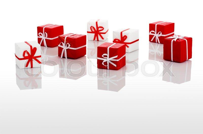 Christmas season! Small gift boxes with ...