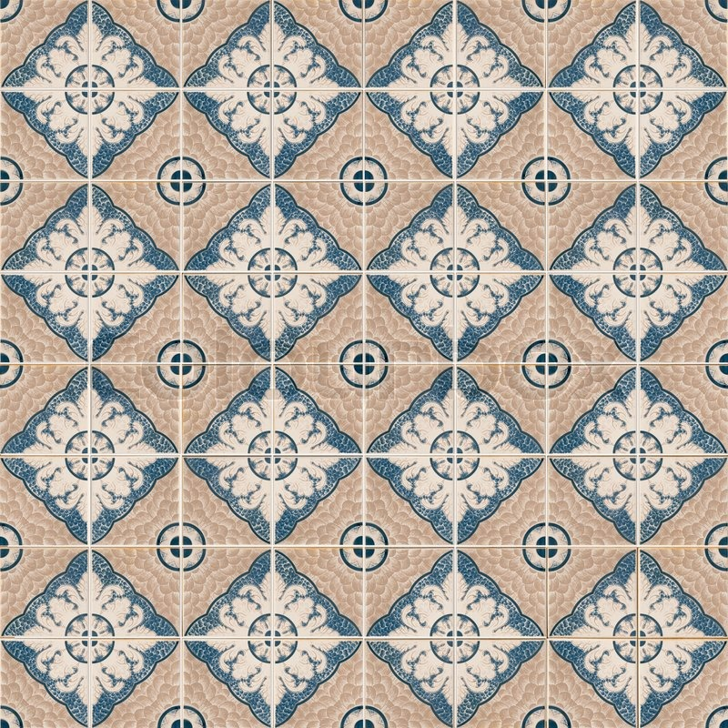 Seamless tile pattern of ancient ceramic tiles | Stock Photo | Colourbox