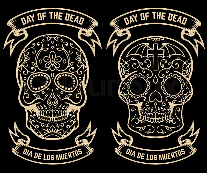 Day of the dead dia de los muertos set of the sugar skulls design day of the dead dia de los muertos set of the sugar skulls design elements for poster greeting card banner vector illustration vector m4hsunfo
