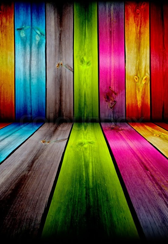 Vibrant Wooden Room As Background Stock Photo Colourbox