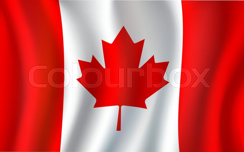 canadian flag 3d symbol of canada country maple leaf national