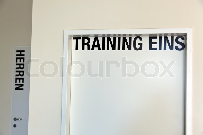 A room for training and seminars in a seminar hotel, stock photo