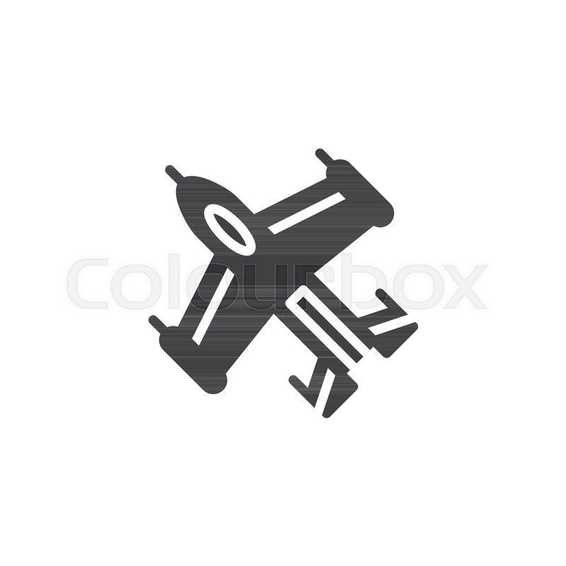 Jet Fighter Plane Icon Vector Filled Flat Sign Solid Pictogram