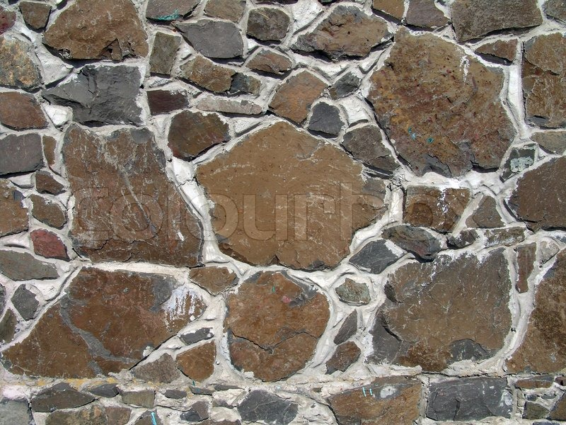 The stone background design of wall or fence Stock