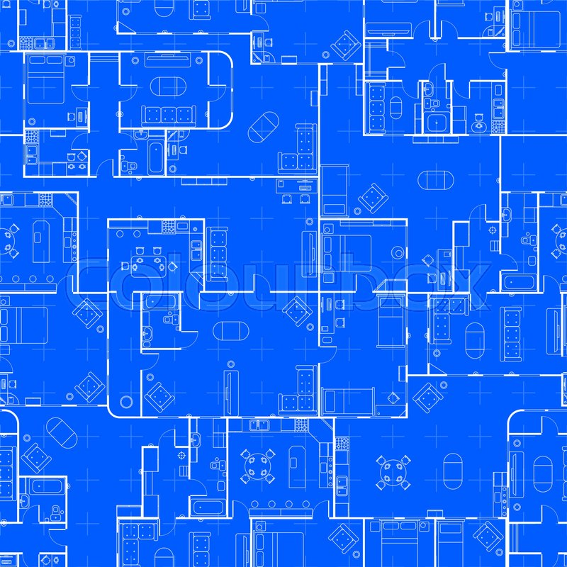 White house floor plan with interior details on construction white house floor plan with interior details on construction blueprint scheme seamless pattern stock vector colourbox malvernweather Gallery