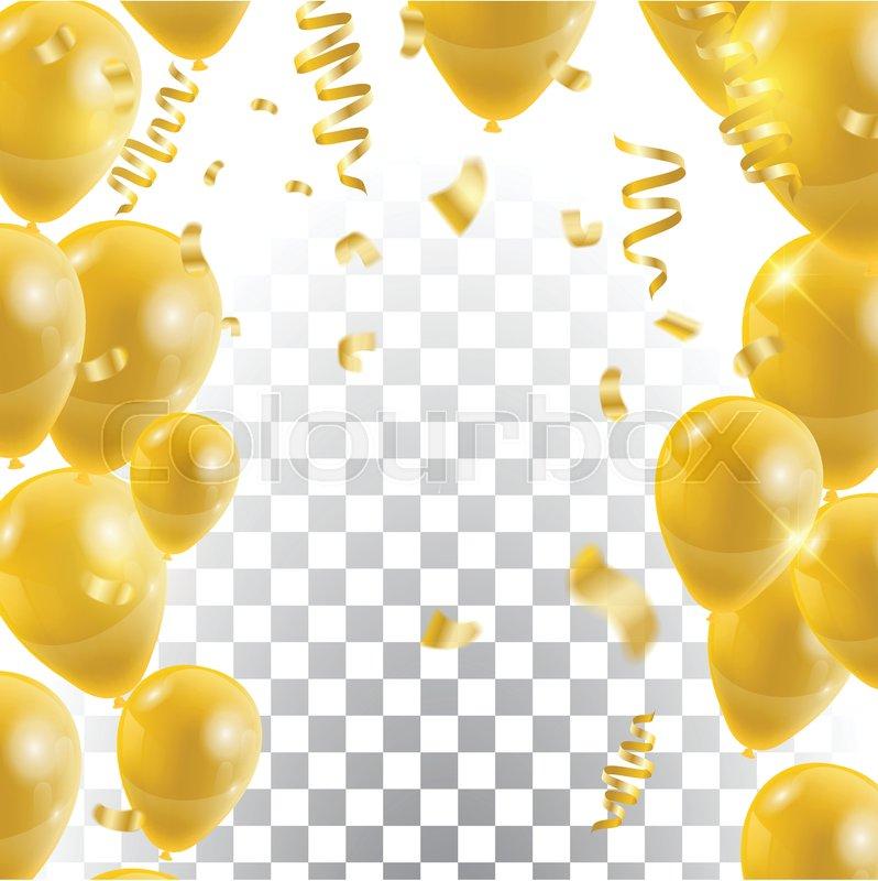 golden balloons   vector celebration