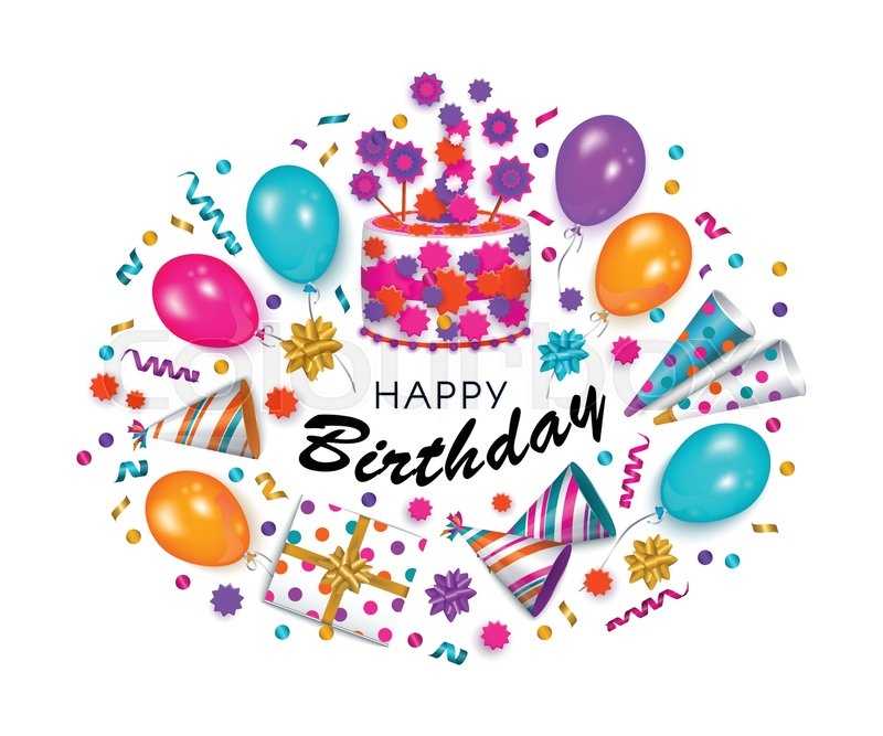 Happy Birthday Greeting Card Banner