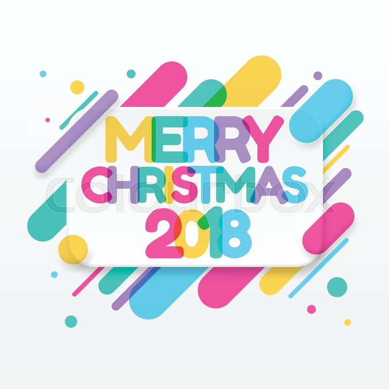 Merry christmas greeting card with abstract colored rounded shapes merry christmas greeting card with abstract colored rounded shapes lines in diagonal rhythm for greeting card poster brochure or flyer template m4hsunfo
