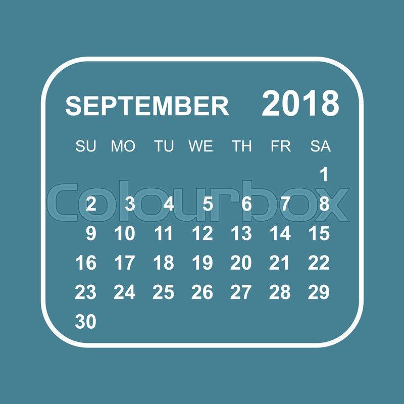 september 2018 calendar calendar planner design template week