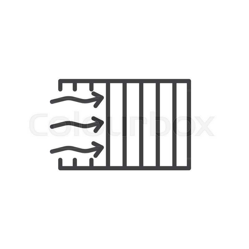 Car Air Filter Line Icon Outline Vector Sign Linear Style