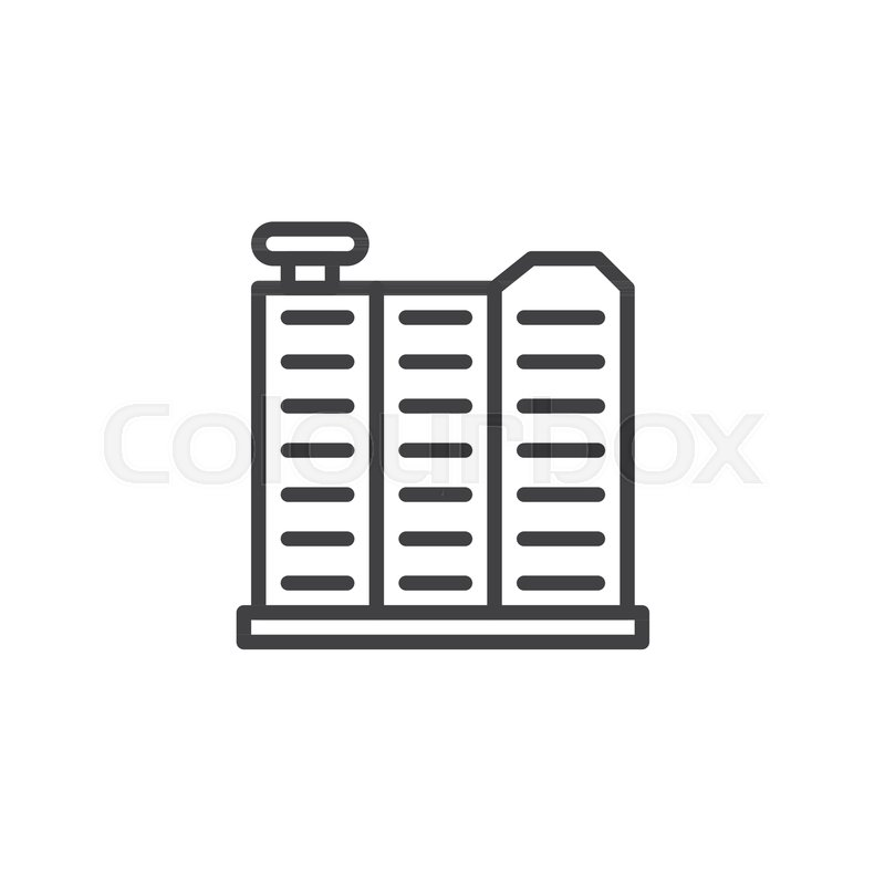 Car Radiator Line Icon Outline Vector Sign Linear Style Pictogram