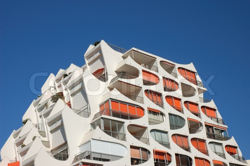France Modern Apartment Building In Southern France