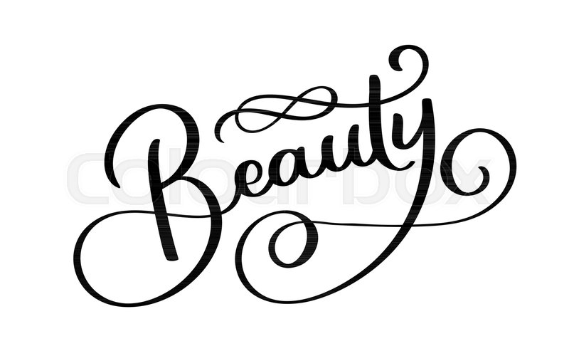 Beauty Typography Square Poster. Vector Lettering