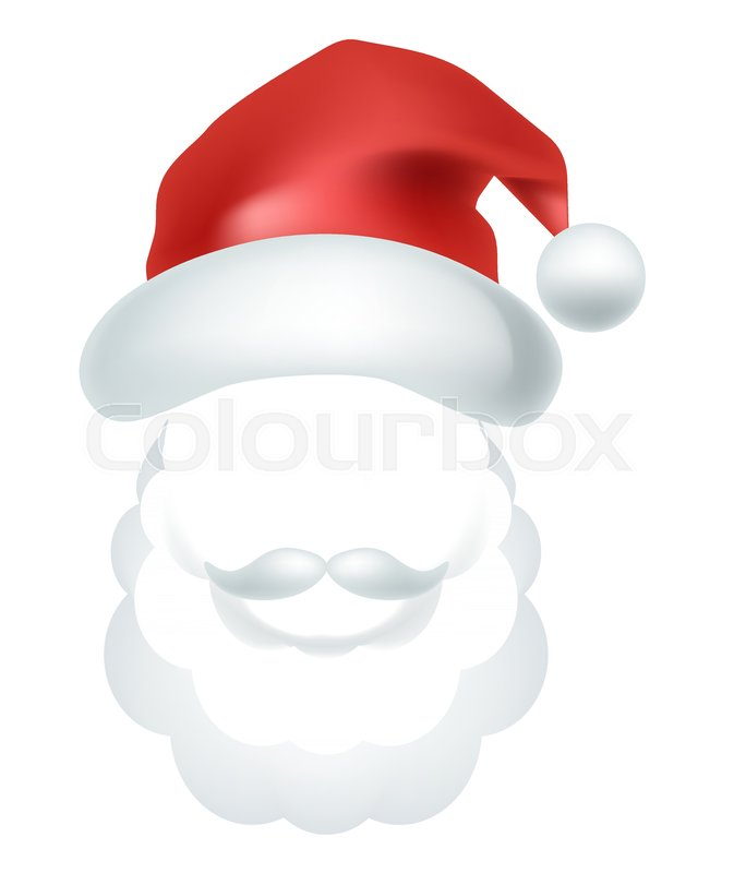 Video Chat Photo Mask Of Santa Claus Stock Vector Colourbox
