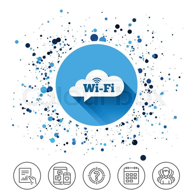Button On Circles Background Free Wifi Sign Wifi Symbol Wireless