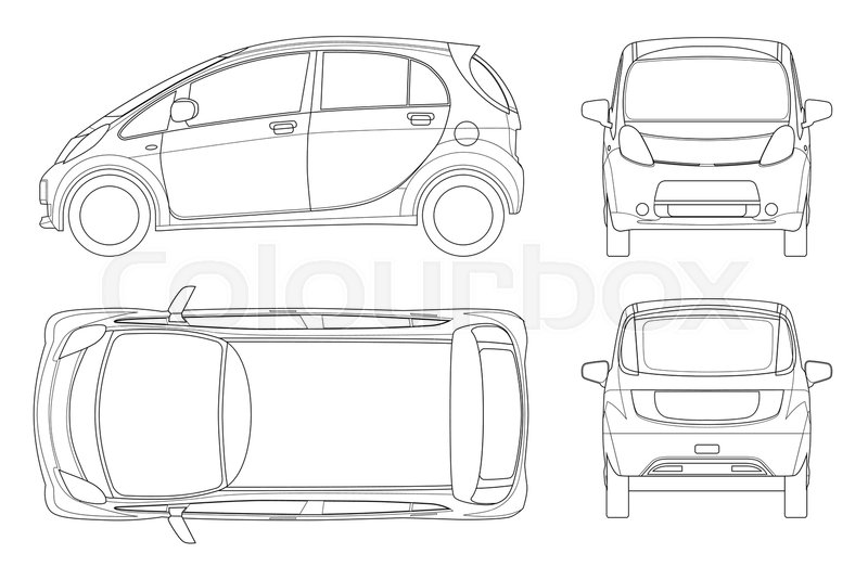 Electric Vehicle Or Hybrid Car In Stock Vector Colourbox