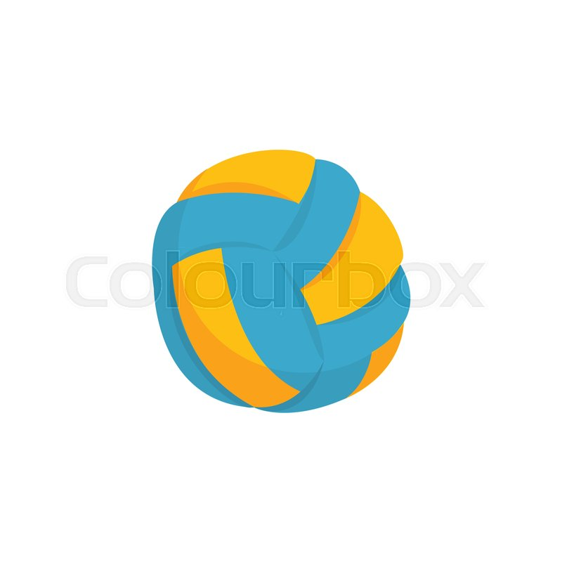 Colorful Beach Volleyball Ball Icon Isolated On White Background