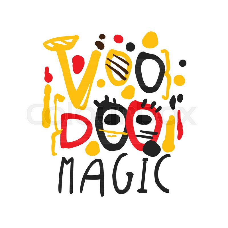 Voodoo African And American Magic Label Design Typography Logo Text