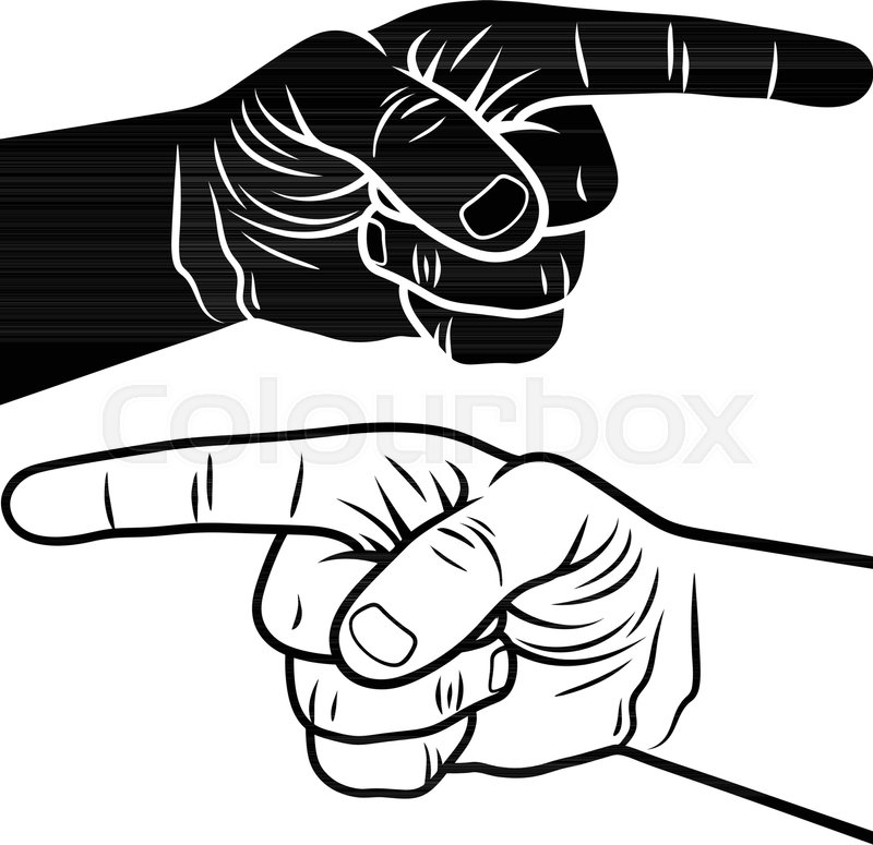 pointing hand vector illustration of a pointing finger hand drawn rh colourbox com pointing hand you vector pointing hand you vector