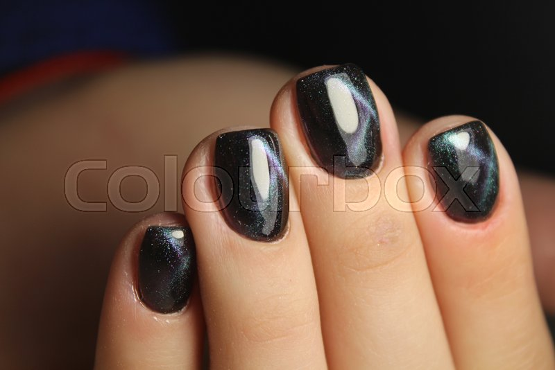 Perfect manicure and natural nails. Attractive modern nail art ...